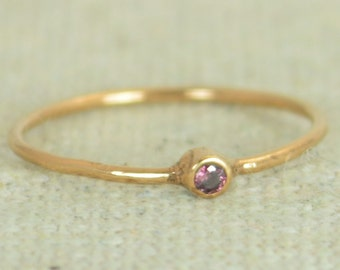 Tiny Alexandrite Ring, Rose Gold Filled Alexandrite Stacking Ring, Rose Gold Alexandrite Ring, Alexandrite Mothers Ring, June Birthstone