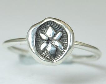 Lotus Ring, Lotus Blossom Ring, Bohemian Ring, Statement Ring, Silver Ring, Sterling Ring, Stacking Ring, hippie ring, Buddhist Gift, Lotus