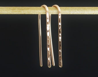 Rose Gold Open Hoops, Rose Gold Filled, Rose Gold Earrings, Everyday Earrings, Dainty Earrings, Arc Earrings, Gold Arc Earrings, Alari