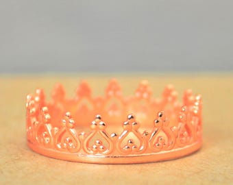 Dainty Rose Gold Crown Ring, Rose Gold Princess Crown Ring, Princess Ring, Tiara Ring, Queen Ring, Rose Gold Ring, Rose Princess Ring, Rose