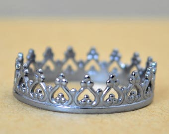 Dainty Gunmetal Crown Ring, Gunmetal Princess Crown Ring, Princess Ring, Tiara Ring, Queen Ring, Gunmetal Ring, Gunmetal Princess Ring