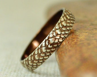 Brown Snake Scale Ring, Sterling Ring, Brown Dragon Scale Ring, Brown Dragon Ring, Brown Snake Ring, Brown Snake Skin Ring, Silver band BOHO