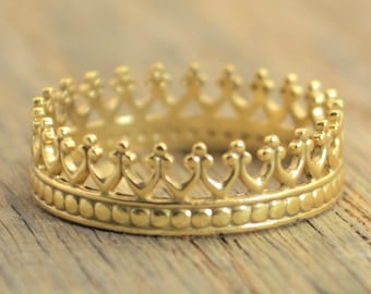 Crown Ring, Princess Ring, Gold Crown Ring, Gold Princess Ring, Tiara Ring,  Gold Ring, Queen Ring, Princess Crown Ring,Sweet 16,Quinceanera