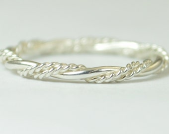 Elegant Silver Twist Ring, Rope Ring, inexpensive wedding band, Fancy Stacking Ring, Art nouveau Ring, Silver Ring Silver Band Stacking Ring