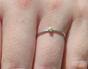 Tiny Topaz Ring, White Gold Topaz Ring, Topaz Stacking Ring, Topaz Mothers Ring, November Birthstone, Topaz Ring, Dainty Gold Topaz Ring
