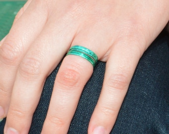 Super Thin Emerald Silver Stackable Ring(s),Green Ring, Stack Rings, Green Stacking Rings, Green Jewelry, Thin emerald Ring, Emerald Jewelry