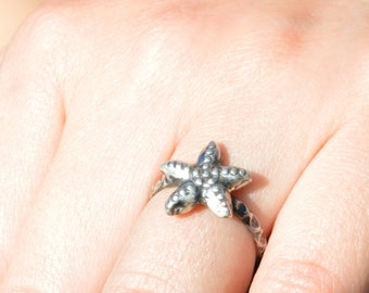 Starfish Ring, Starfish Jewelry, Starfish, Beach Wedding, Beach Jewelry, Silver Starfish Ring, Nautical Ring, Sterling Starfish Ring, Silver