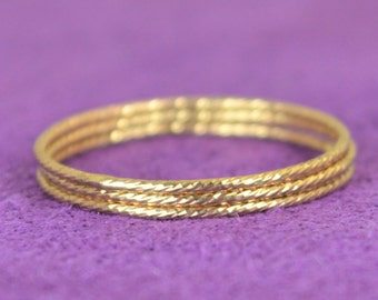 Thin Gold Filled Sparkle Ring, Gold Ring, Stacking Ring(s), Dainty Ring, Boho Ring, Elegant Gold Ring,Gold Band,Thin gold Ring Dainty Ring