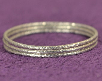 Super Thin Sparkle Ring, Silver Ring, Stacking Rings, Dainty Silver Ring, Silver Boho Ring, Rustic Silver Rings, Silver Rings, Thin Ring