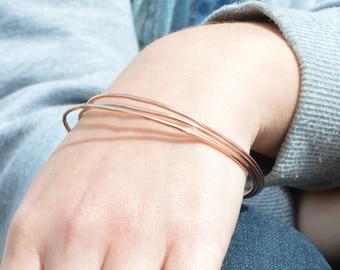 Thin Copper Bangle, Round  Bangle, Thin Bangle, Stacking Bangles, Pure Copper Bangle, Copper bracelet, stacking bangle, copper bangle