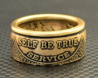 AA Ring, Sobriety, AA anniversary, Alcoholics Anonymous, Coin Ring,  AA Coin, Coin Rings, Recovery Jewelry, Recovery Gift, Free Engraving