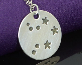 Sterling Silver Libra Necklace, Libra Necklace, Sterling Silver, Libra Constellation, Libra Jewelry, Zodiac Pendant, Libra Necklace