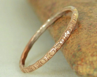 14k Rose Gold Bohemian Ring, Rustic Wedding Ring, Heirloom Quality, Classic 14k Gold Ring, Gold Boho Ring, Rustic Gold Rings, Gold Band, G5