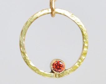 Gold Filled Garnet Necklace, Mothers Necklace, Mom Necklace, January Birthstone Necklace, Garnet Necklace, Mother's Necklace, Gold Garnet