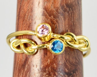 Grab 2 14k Gold Filled Infinity Ring, Gold Filled Ring, Stackable Rings, Mother Ring, Birthstone Ring, Gold Infinity Ring, Gold Knot Ring