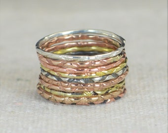 BoHo Rings, Bohemian Rings, Hippie Rings, Tribal Rings, Rustic Rings, Patterned Rings, Sterling Rings, Brass Rings, Bronze Rings, Gold -A12