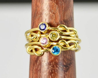Grab 4 14k Gold Filled Infinity Ring, Gold Filled Ring, Stackable Rings, Mother Ring, Birthstone Ring, Gold Infinity Ring, Gold Knot Ring