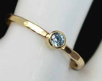 Classic 14k Gold Filled Aquamarine Ring, Gold Solitaire, Solitaire Ring, 14k Gold Filled, March Birthstone, Mothers Ring, Gold Band, Yellow