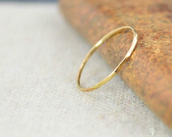 Gold Ring, 14k Gold Ring, Gold Stack Ring, Solid Gold Ring, Thin Gold Ring, Gold Ring 14k, Real Gold, Gold Stacking Ring, minimal gold ring