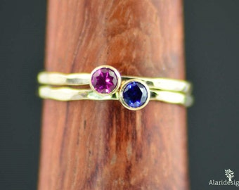 Grab 2 Gold Mothers Rings, Gold Ring, Birthstone Mothers Ring, Mothers Ring, Mommy Rings, Mothers Jewelry, Gift for Mom, Stackable, Stacking