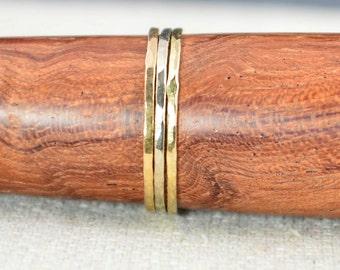 White, Rose & Yellow Gold Ring Set, Thin Stacking Rings, 14k White Gold Ring, 14k Yellow Gold Ring, 14k Rose Gold Ring, Gold Ring Set, Alari
