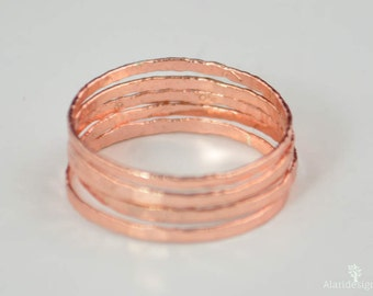 Super Thin Lt. Rose Silver Stackable Ring(s), Pink Jewelry, Stack Rings, Pink Stacking Rings, Thin Pink Ring, Bridal Ring, Pink Ring