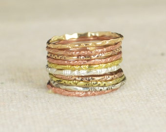 Tribal Rings, Bohemian Rings, BoHo Rings, Hippie Rings, Gypsy Rings, Rustic Rings, Sterling Ring, Brass Ring, Bronze Ring, Gold Ring-A10