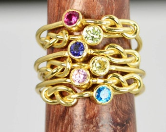 Grab 6 14k Gold Filled Infinity Ring, Gold Filled Ring, Stackable Rings, Mother Ring, Birthstone Ring, Gold Infinity Ring, Gold Knot Ring