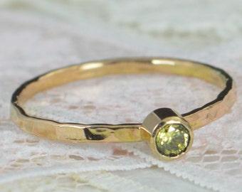 Topaz Engagement Ring, 14k Gold, Topaz Wedding Ring Set, Rustic Wedding Ring Set, November Birthstone, Solid 14k Topaz Ring