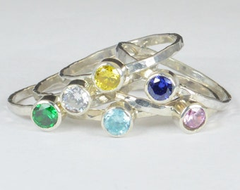 Grab 6 - Small Silver Mothers Rings, Mother's Ring, Grandmas Rings, Mommy Ring, Mothers Jewelry, Gift for Mom, Grandma's Ring