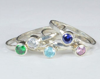 Grab 5 - Small Silver Mothers Rings, Mother's Ring, Grandmas Rings, Mommy Ring, Mothers Jewelry, Gift for Mom, Grandma's Ring