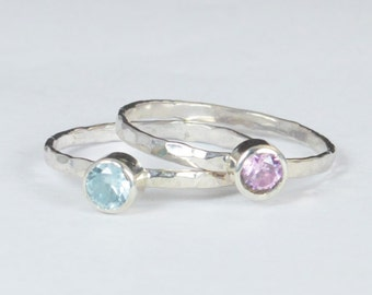 Grab 2 - Small Silver Mothers Rings, Mother's Ring, Grandmas Rings, Mommy Ring, Mothers Jewelry, Gift for Mom, Grandma's Ring