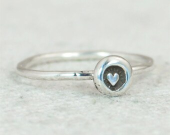 Heart Ring BoHo Heart Ring, Bohemian Heart Ring, Bohemian Ring, Sterling Heart Ring, Silver heart Ring, gypsy heart ring, hippie heart ring