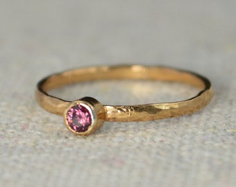 Classic Rose Gold Filled Alexandrite Ring, solitaire, solitaire ring, rose gold filled, June Birthstone, Mothers Ring, gold band, band