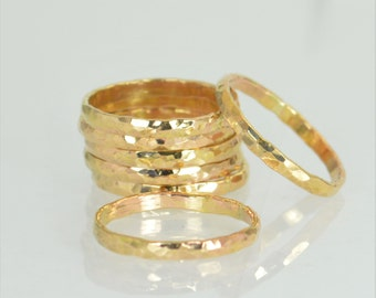 Thick 14k Gold Filled Stackable Ring(s), Gold Rings, Stacking Rings, Thick Gold Ring, Alari, Simple Ring, Gold Band, Gold Stack Ring