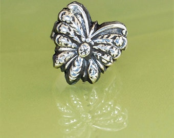 Butterfly, Butterfly Ring, Statement Ring, Sterling Silver Ring, Boho Butterfly Ring, Butterfly Jewelry, Floral Butterfly, Bohemien Ring