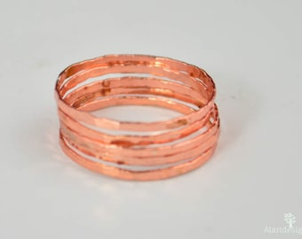 Super Thin Rose Silver Stackable Ring(s), Rose Silver Ring, Stack Rings, Pink Stacking Rings, Thin Rose Ring, Rose Colored Ring, Pink Ring