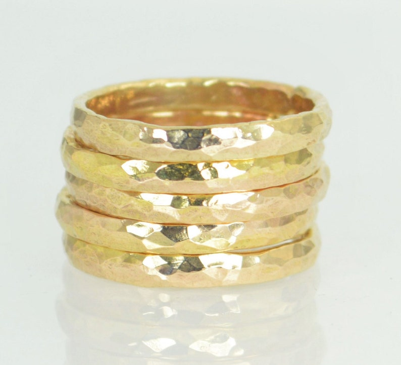 Super Thick Stackable 14k Gold Filled Rings Gold Rings image 0