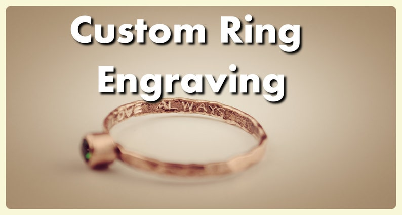 Custom Inside Ring Engraving   Add a Personalized Message image 0