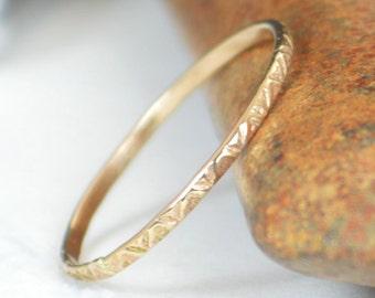 14k Gold Bohemian Ring, Rustic Wedding Ring, Thin Gold Ring, Dainty 14k Gold Ring, Ring, Gold Boho Ring, Rustic Gold Rings, Gold Band, A19