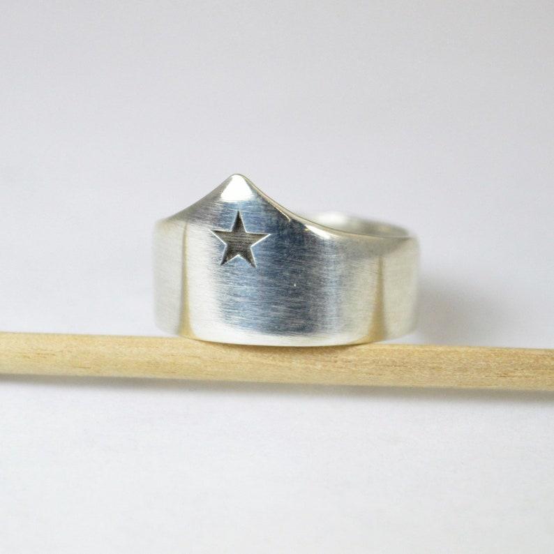 Silver Statement Ring Wonder Woman Crown Ring Tiara Ring image 0