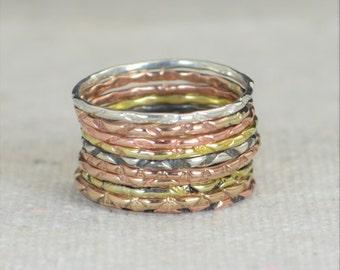BoHo Rings, Bohemian Rings, Hippie Rings, Tribal Rings, Rustic Rings, Patterned Rings, Sterling Rings, Brass Rings, Bronze Rings, Gold -A13