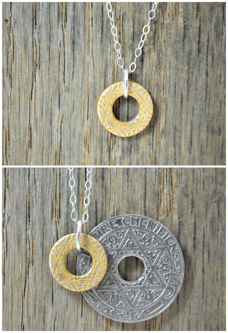 Moroccan Coin Necklace Gold Coin Necklace Coin Art Morocco image 0