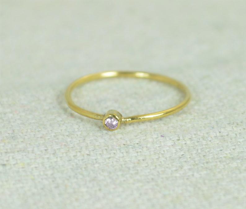 Tiny Pink Tourmaline Ring Gold Filled Tourmaline Ring Pink image 0