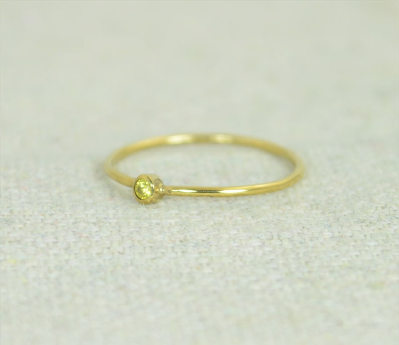 Tiny Topaz Ring Gold Filled Topaz Ring Topaz Stacking Ring image 0