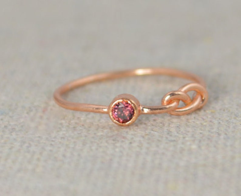 Alexandrite Infinity Ring Rose Gold Filled Ring Stackable image 0