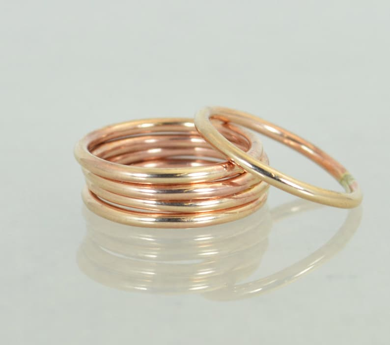 Round Classic Size Bronze RingsBronze Ring Bronze Stacking image 1