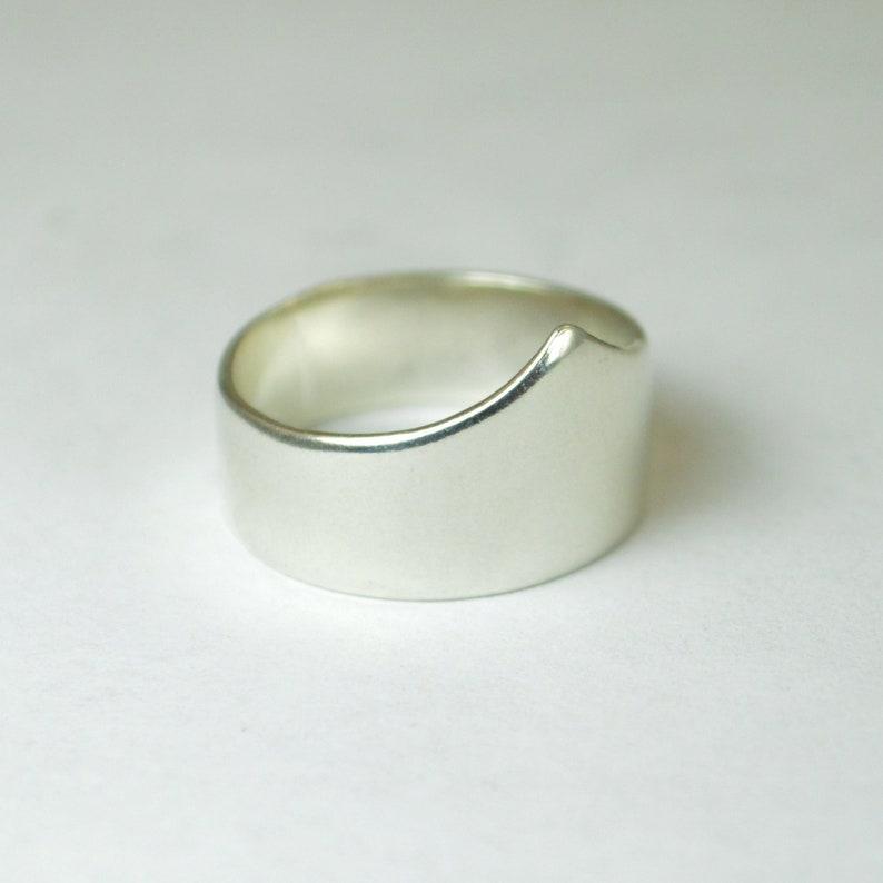 Silver Chevron Ring Silver Tiara Ring Sterling Silver Ring image 1