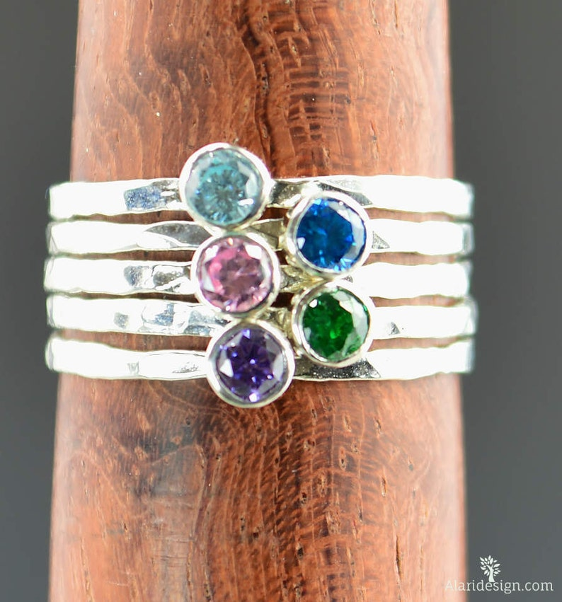 Grab 5  Dainty Silver Mothers Rings Mother's Ring image 0