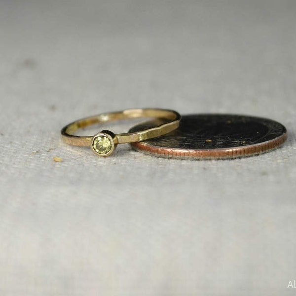 Classic 14k Gold Filled Topaz Ring Gold solitaire solitaire image 3